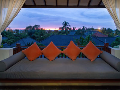 balkon, teras lanai deluxe seaview hotel kuta seaview boutique resort and spa